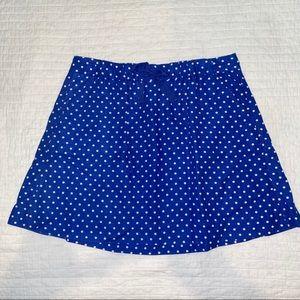 J. Crew Factory Linen Drawstring Dot Mini Skirt
